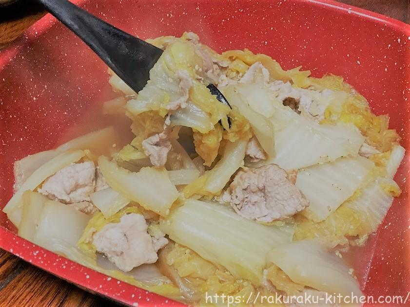 白菜と豚バラ肉の無水鍋